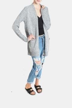 Dreamers Slouchy Heather Grey Cardigan - Product List Image
