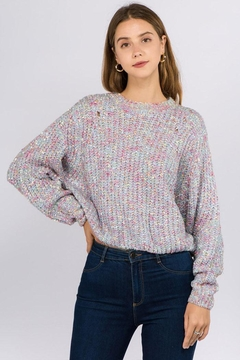 Shoptiques Product: Slouchy Textured Pullover