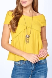 Dreamers Smocked Top - Front cropped