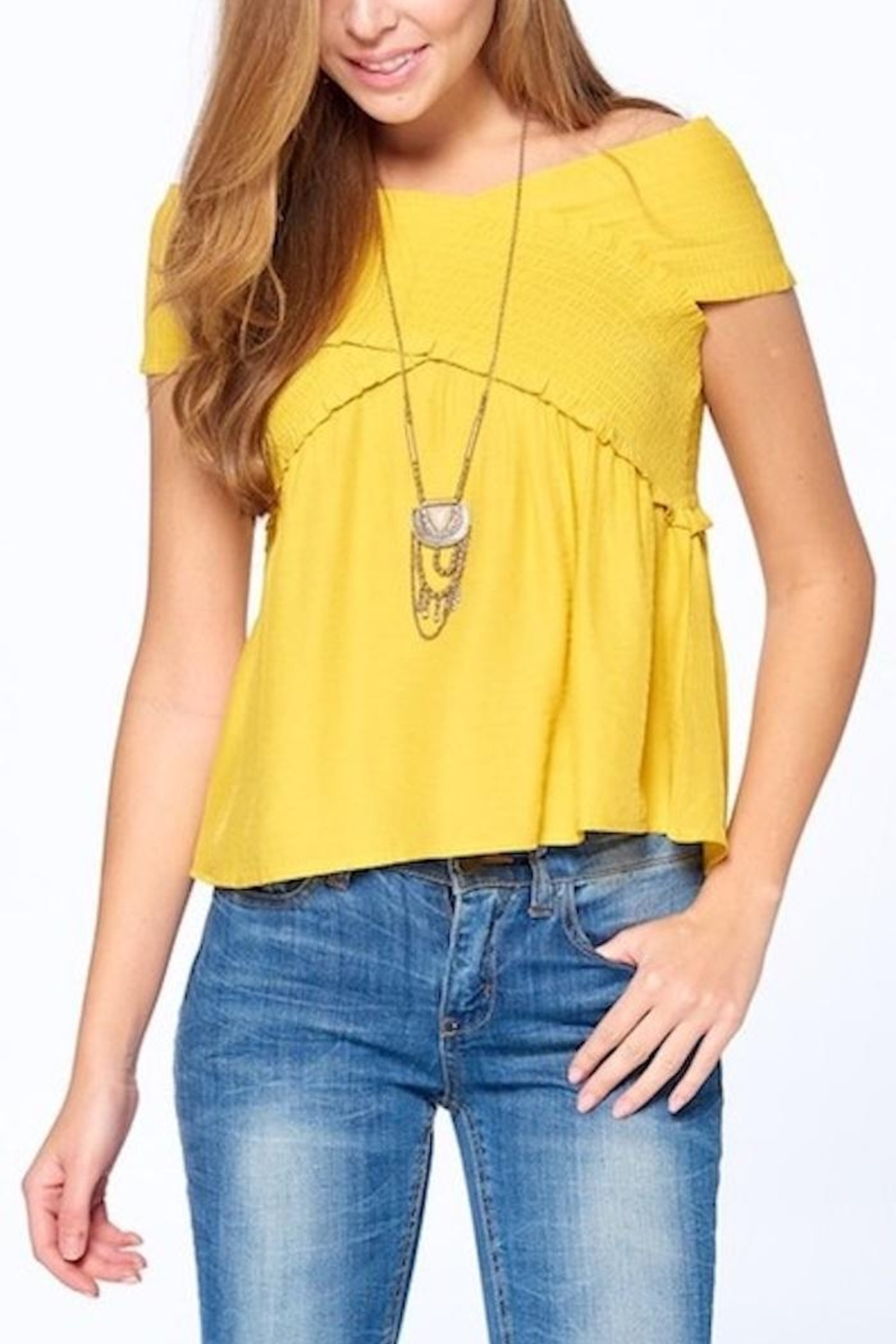 Dreamers Smocked Top - Front Full Image