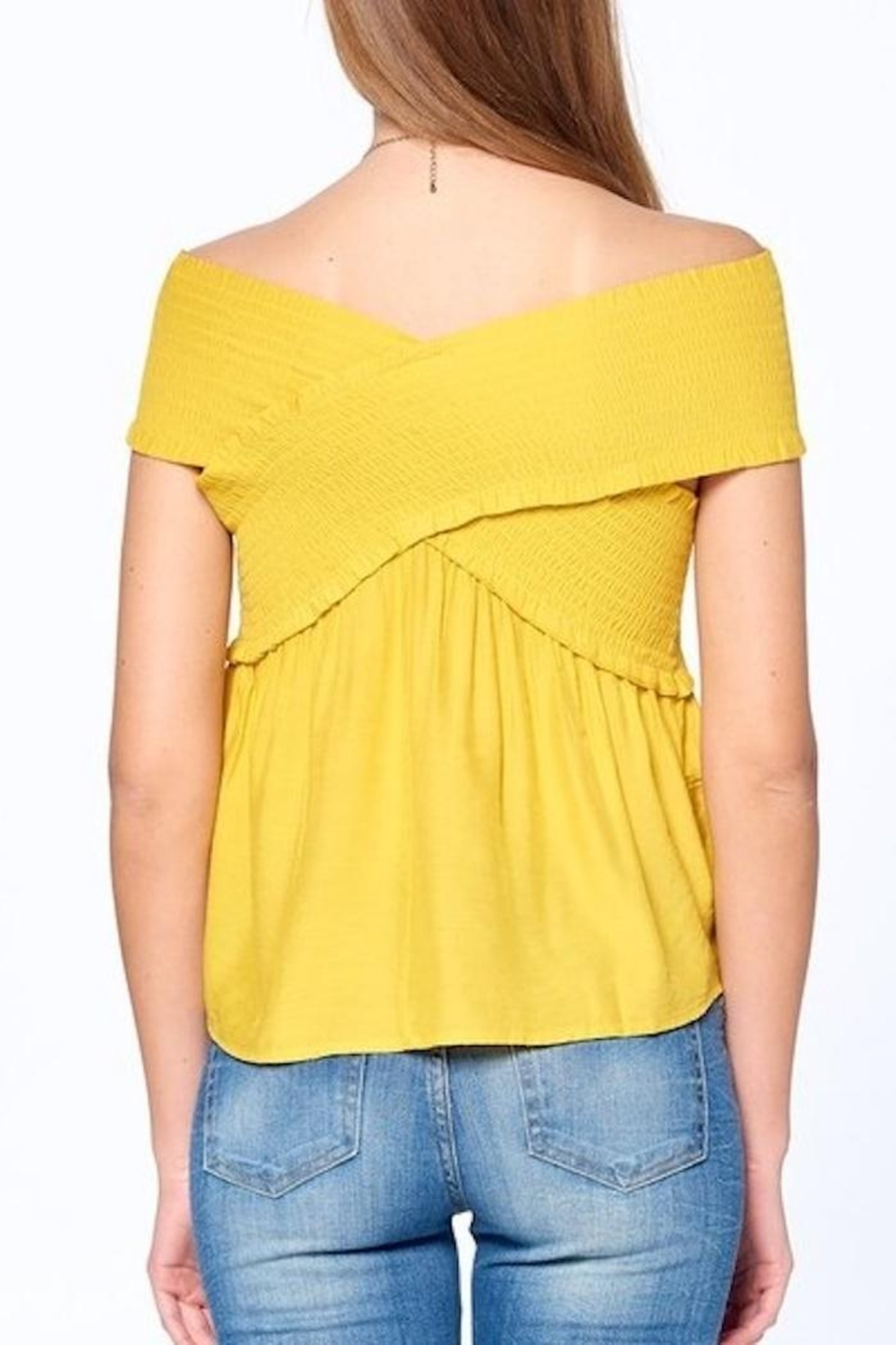 Dreamers Smocked Top - Side Cropped Image