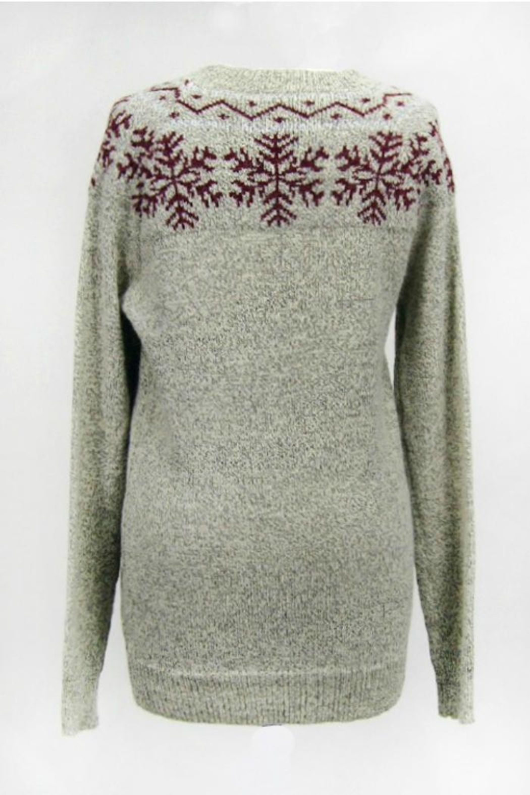 Dreamers Snowflake Pullover Sweater - Front Full Image