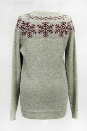 Dreamers Snowflake Pullover Sweater - Front full body
