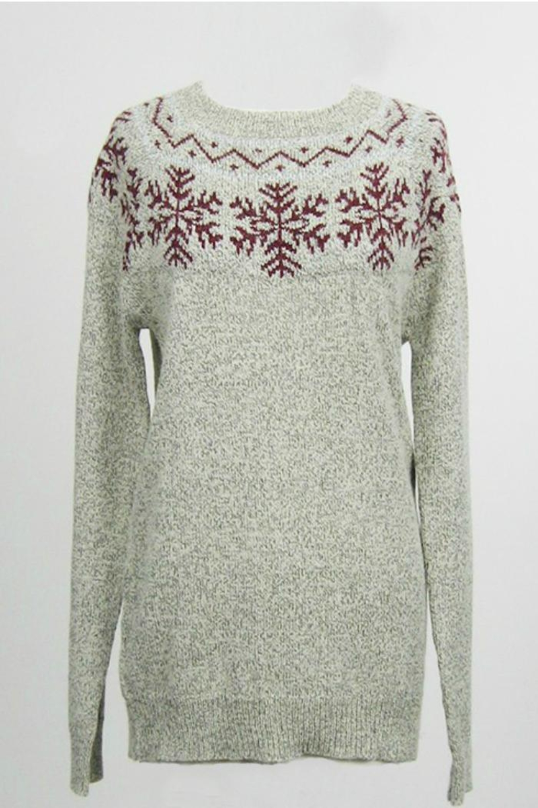 Dreamers Snowflake Pullover Sweater - Main Image