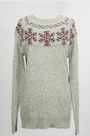Dreamers Snowflake Pullover Sweater - Product Mini Image
