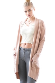 Dreamers Soft-Pink Open Cardigan - Product Mini Image