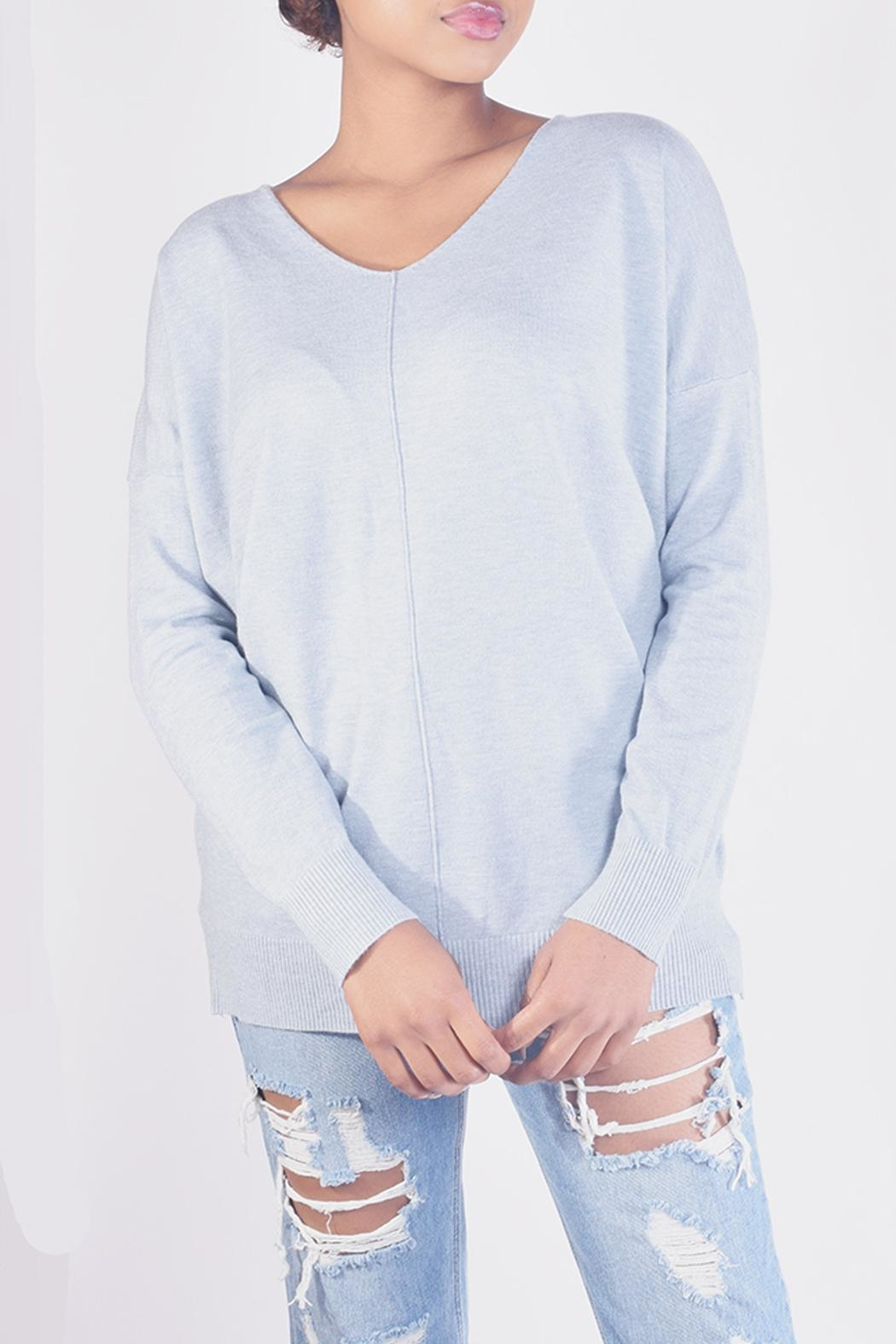 Dreamers Soft V-Neck Sweater - Front Cropped Image