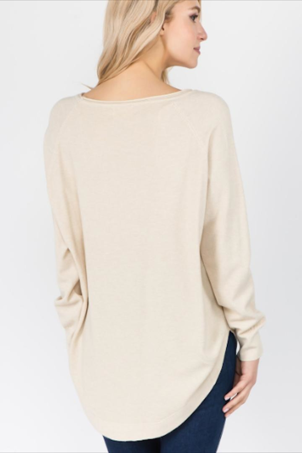 Dreamers Softest Off-White Sweater - Front Full Image