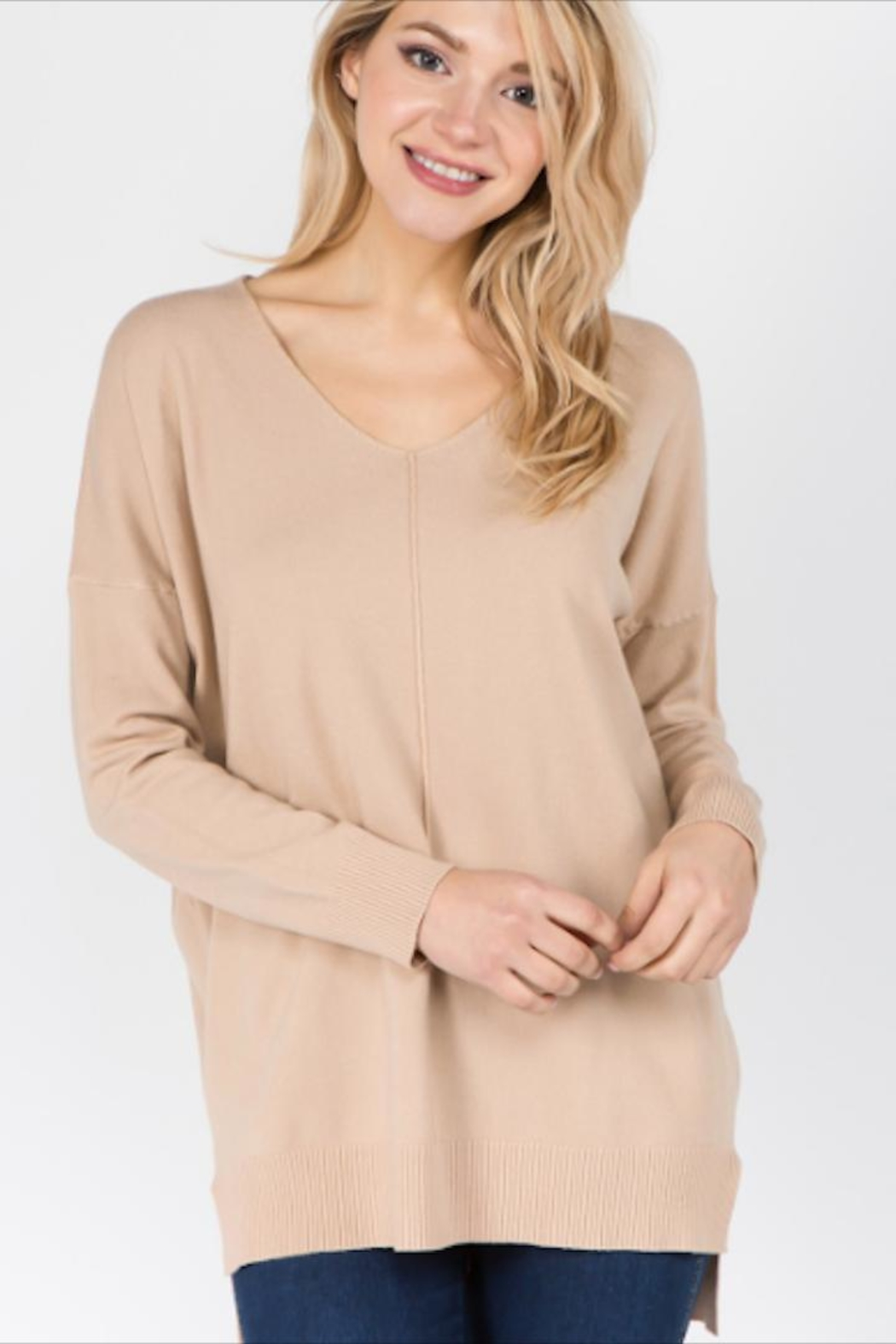 Dreamers Softest v-Neck Sweater - Main Image