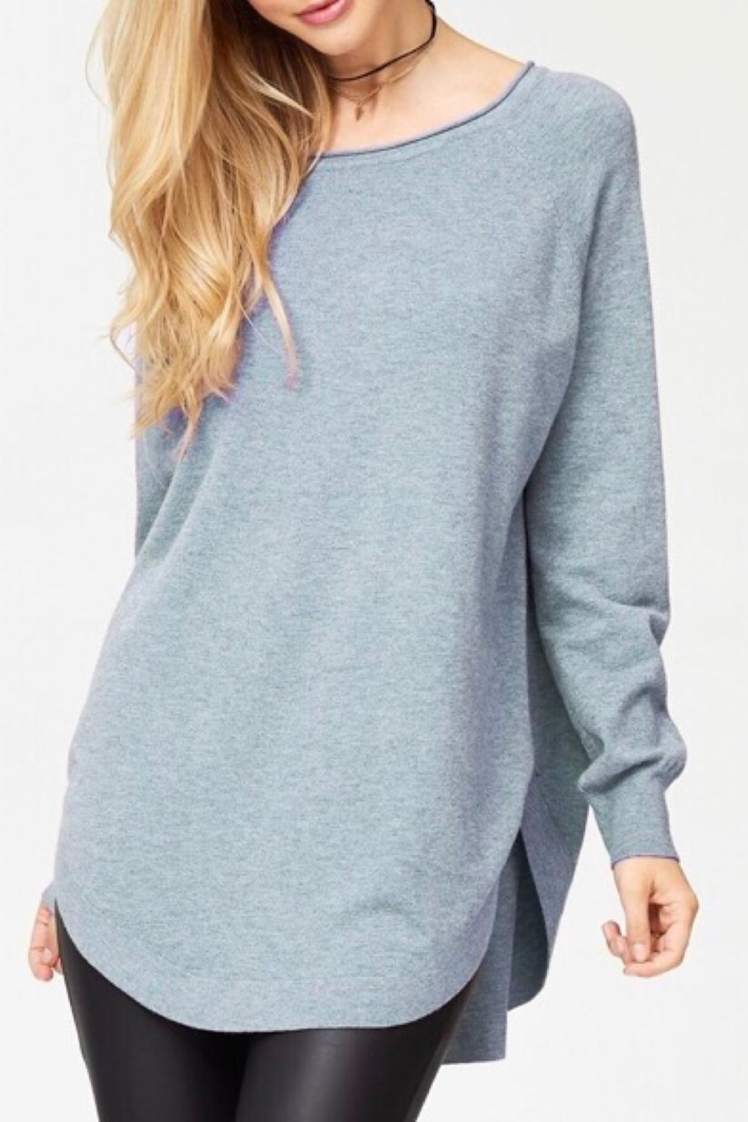 Dreamers Solid Tunic Sweater - Main Image