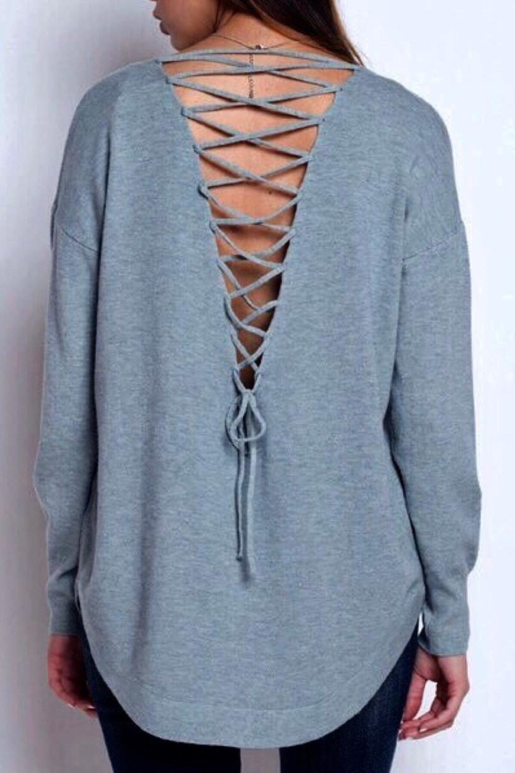 Dreamers Strappy Back Sweater - Main Image