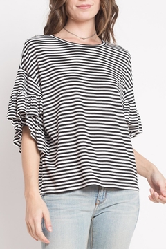 Dreamers Striped Ruffle Top - Product List Image