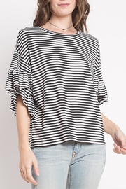 Dreamers Striped Ruffle Top - Product Mini Image