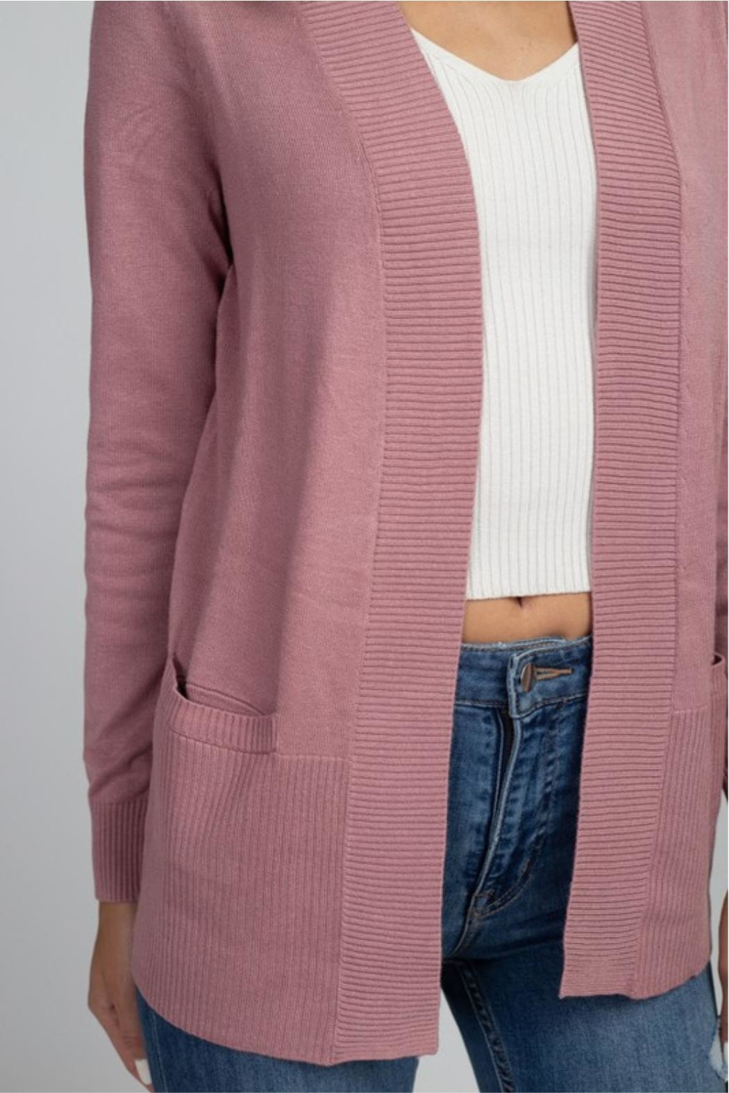 Dreamers Think Pink Cardigan - Side Cropped Image