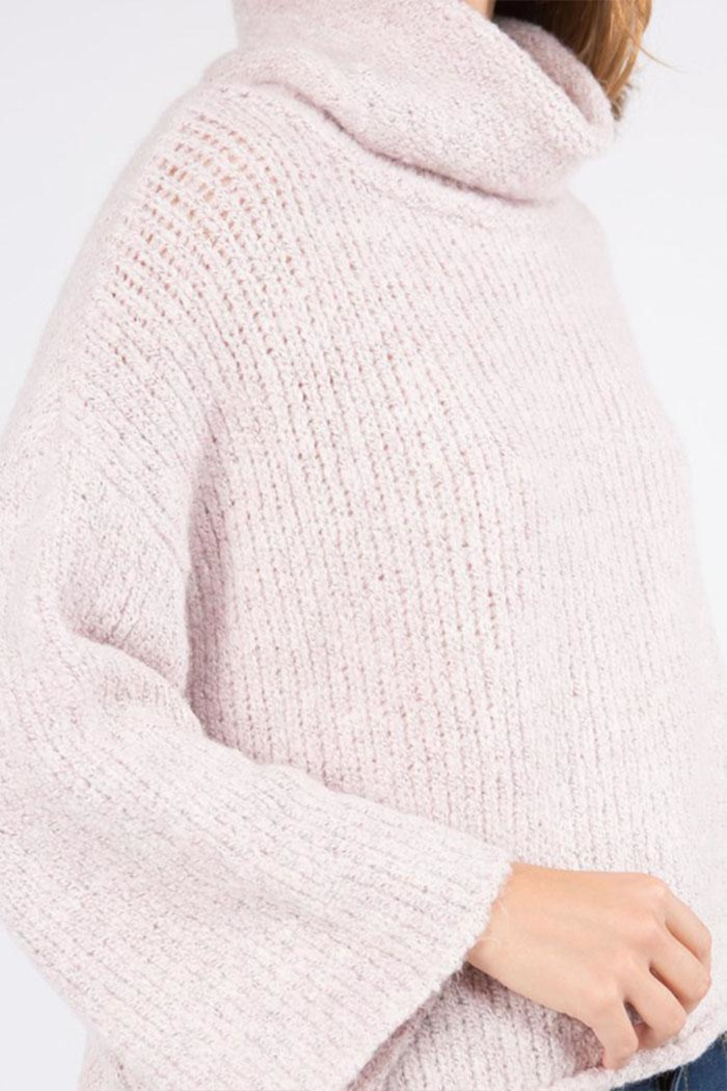 Dreamers Turtleneck Pullover Sweater - Side Cropped Image