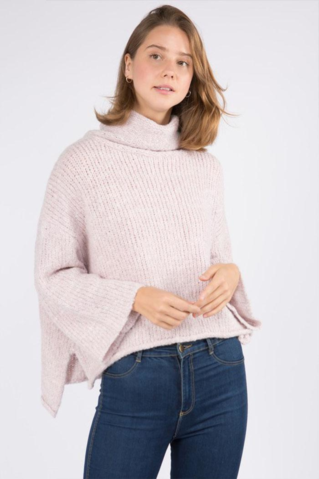 Dreamers Turtleneck Pullover Sweater - Front Cropped Image