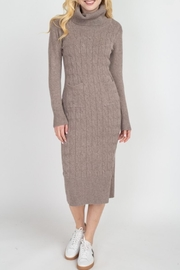 Dreamers Turtleneck Sweater Dress - Front cropped