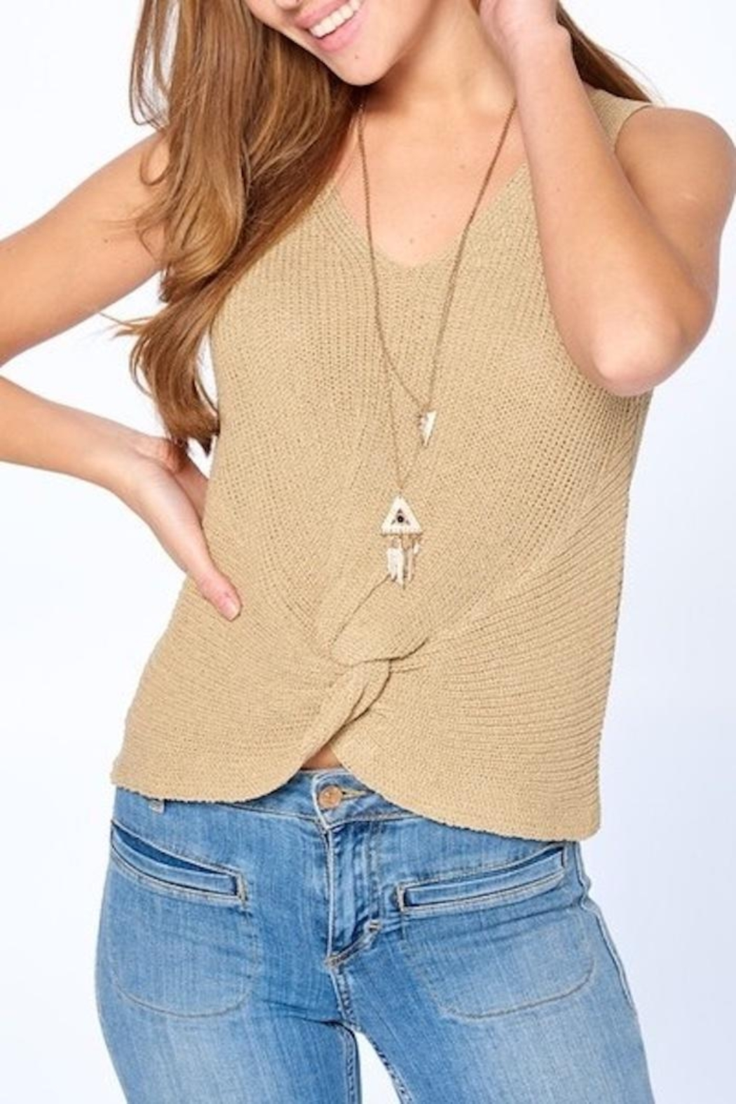 Dreamers Twist Front Top - Front Full Image