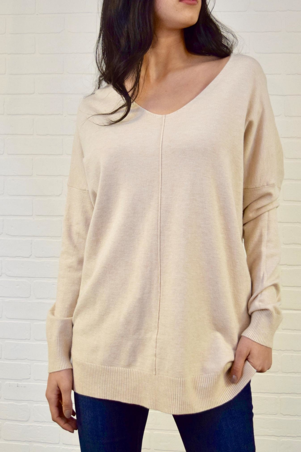 Dreamers V-Neck Sweater - Front Cropped Image