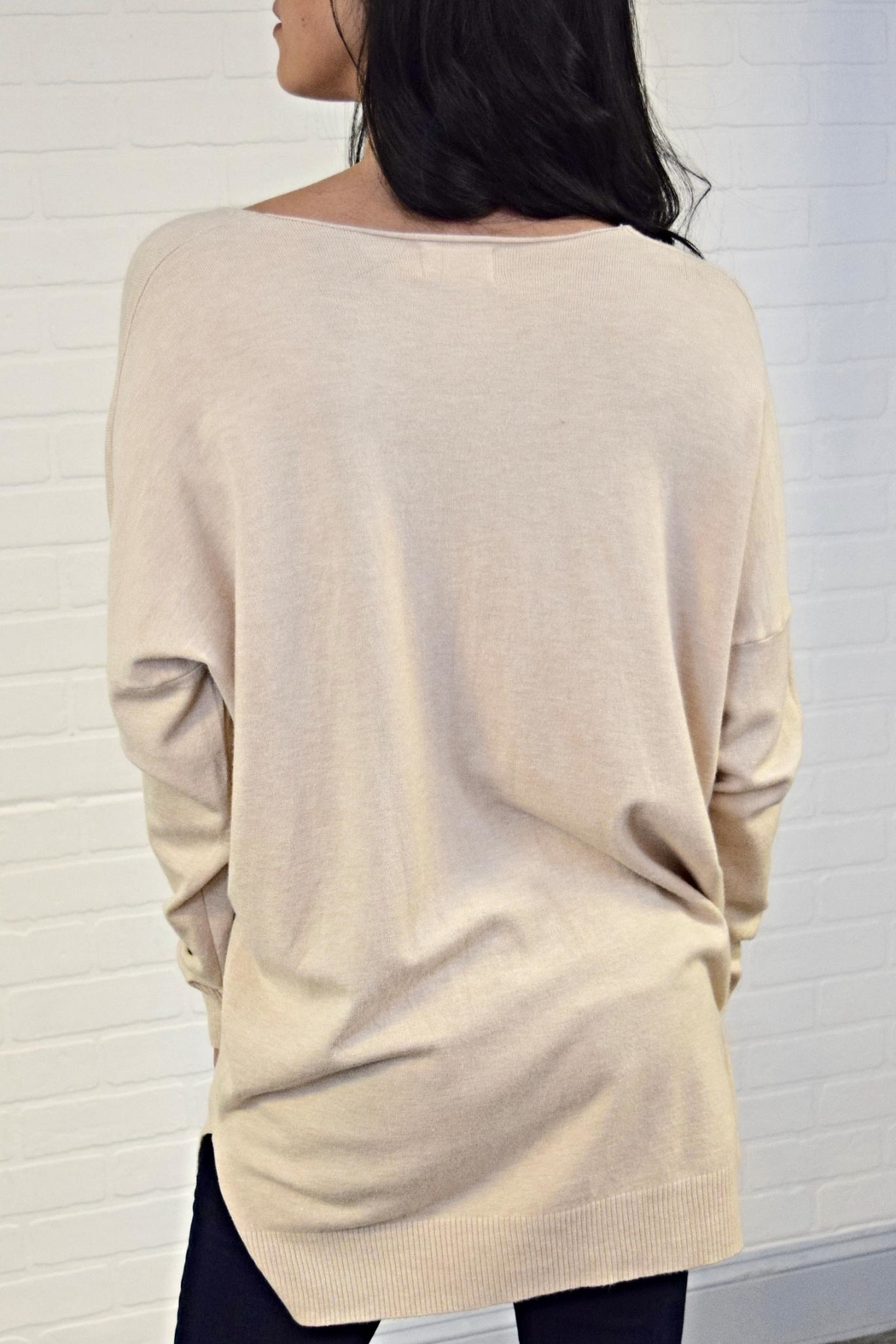 Dreamers V-Neck Sweater - Side Cropped Image