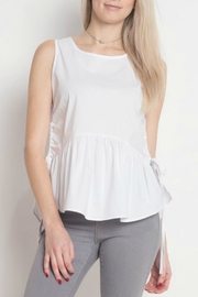 Dreamers White Peplum Top - Product Mini Image