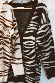 Dreamers Zebra Print Cardigan - Product Mini Image