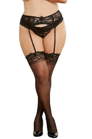Dreamgirl Lace Garter-Belt Queen - Product Mini Image