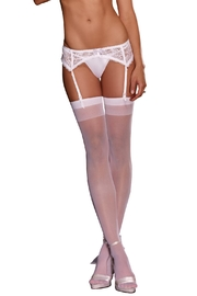 Dreamgirl Lace Garter Belt - Front cropped