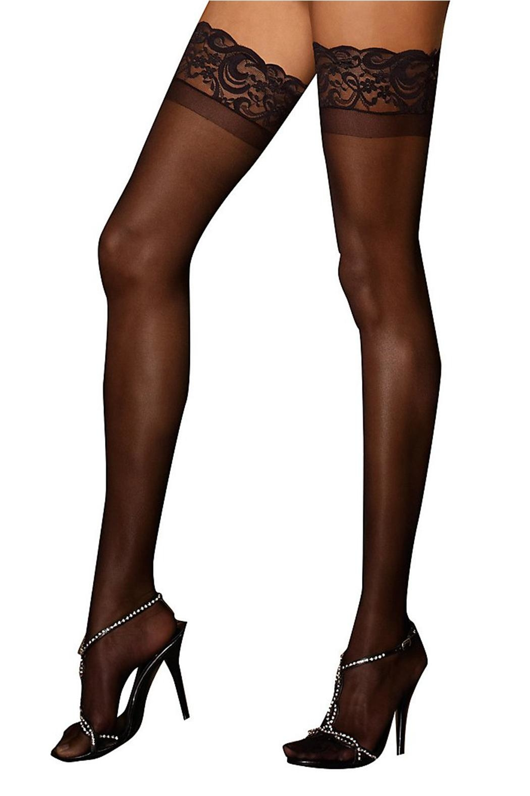 Dreamgirl Lace Top Thigh High - Main Image