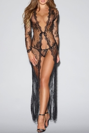 Dreamgirl Tie-Front Lace Robe - Front cropped