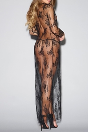 Dreamgirl Tie-Front Lace Robe - Front full body