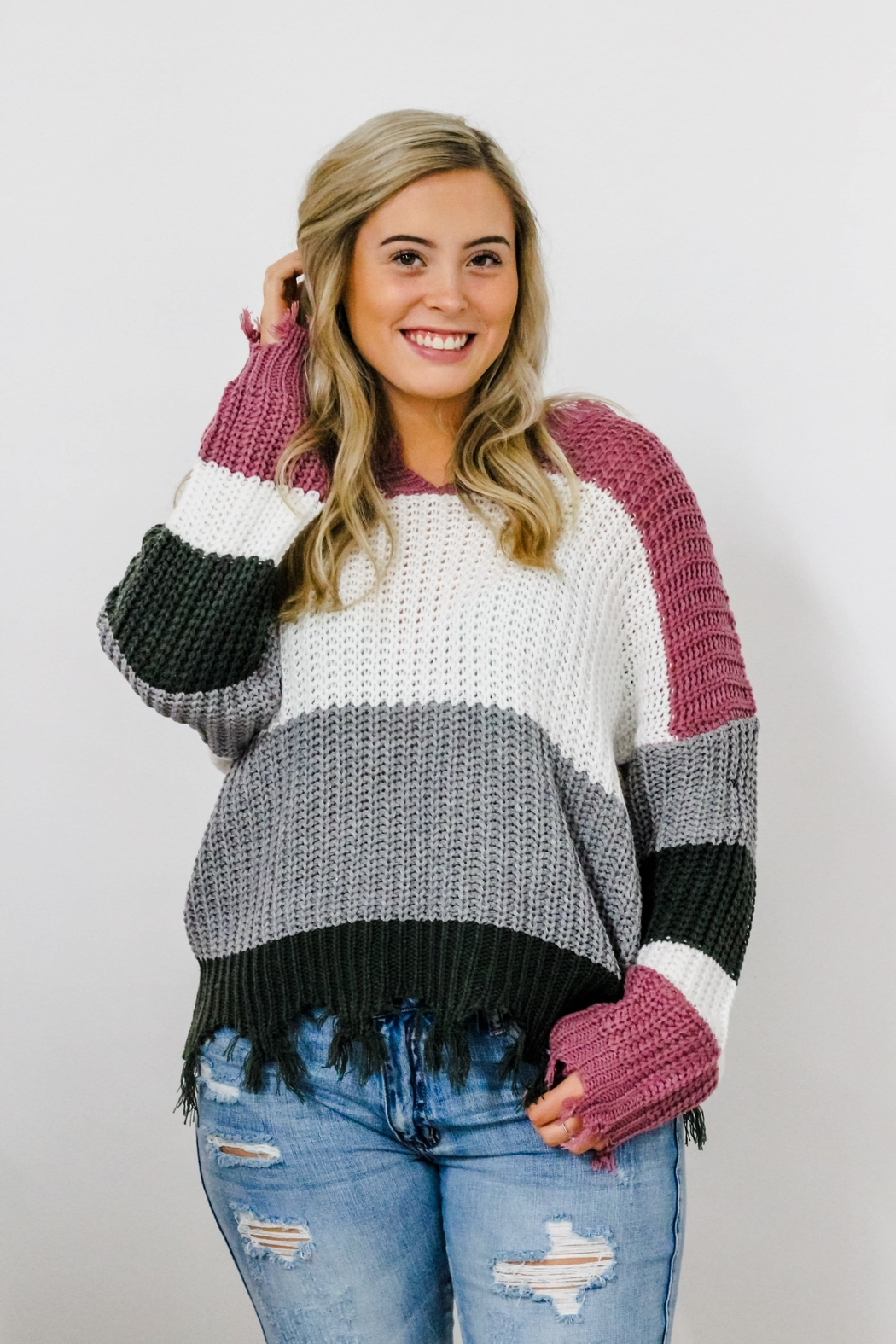 eesome Dreaming of You Sweater - Front Cropped Image