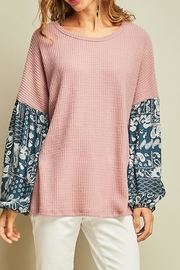 Entro Dreamy Waffle-Knit Top - Product Mini Image