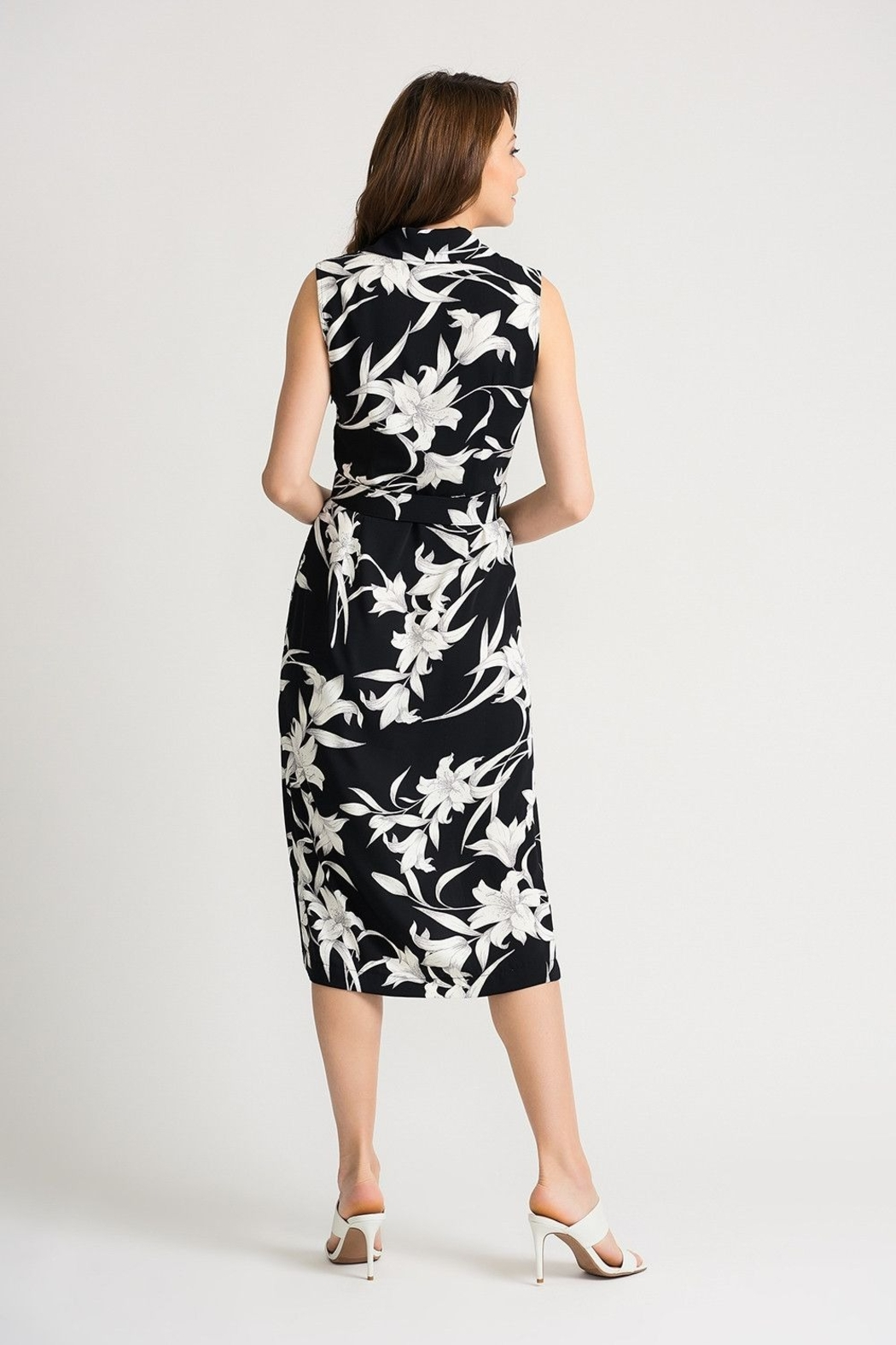 Joseph Ribkoff Dress- black and white - Side Cropped Image