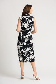 Joseph Ribkoff Dress- black and white - Side cropped
