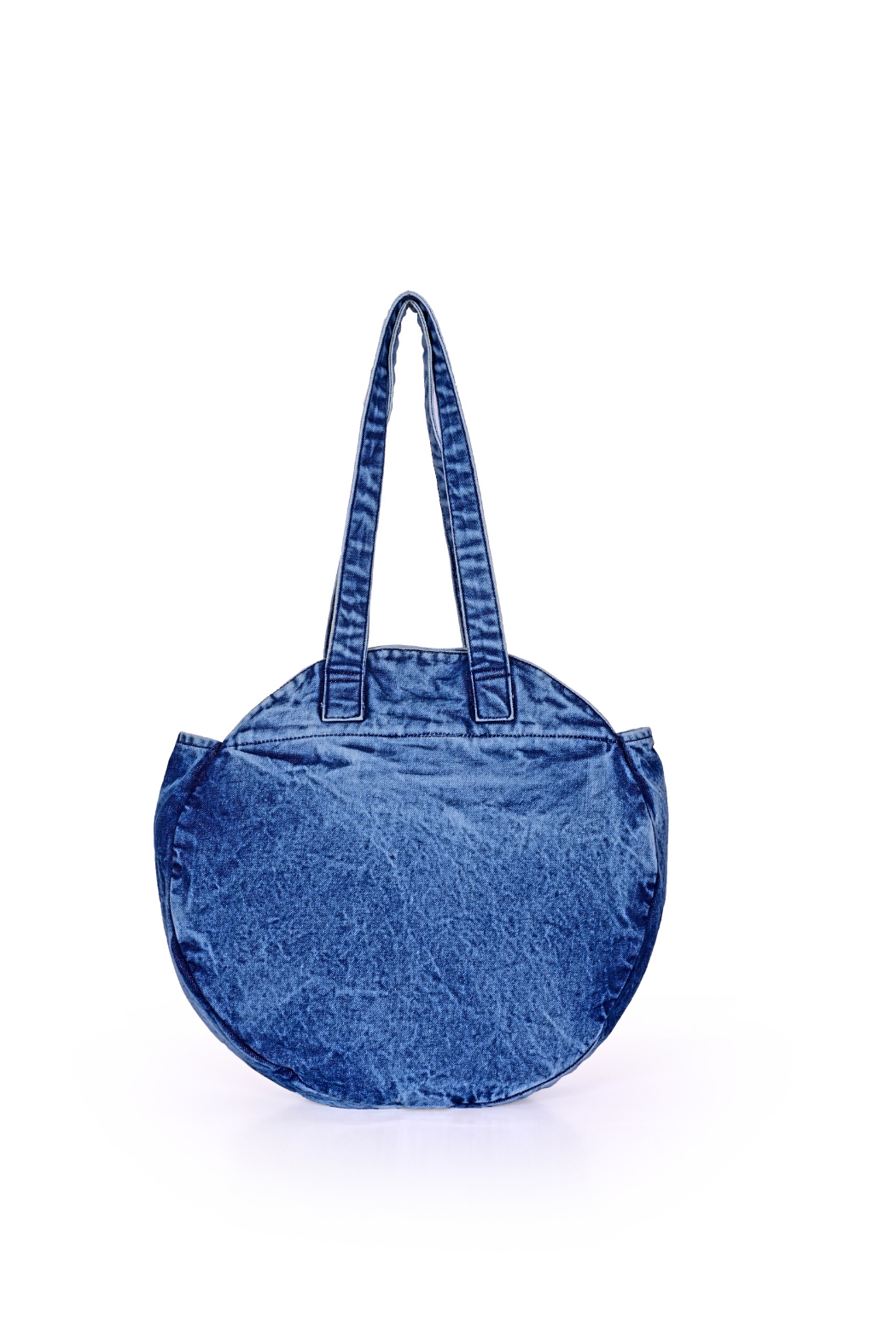 America & Beyond Dress Blues Denim Round Tote - Front Cropped Image