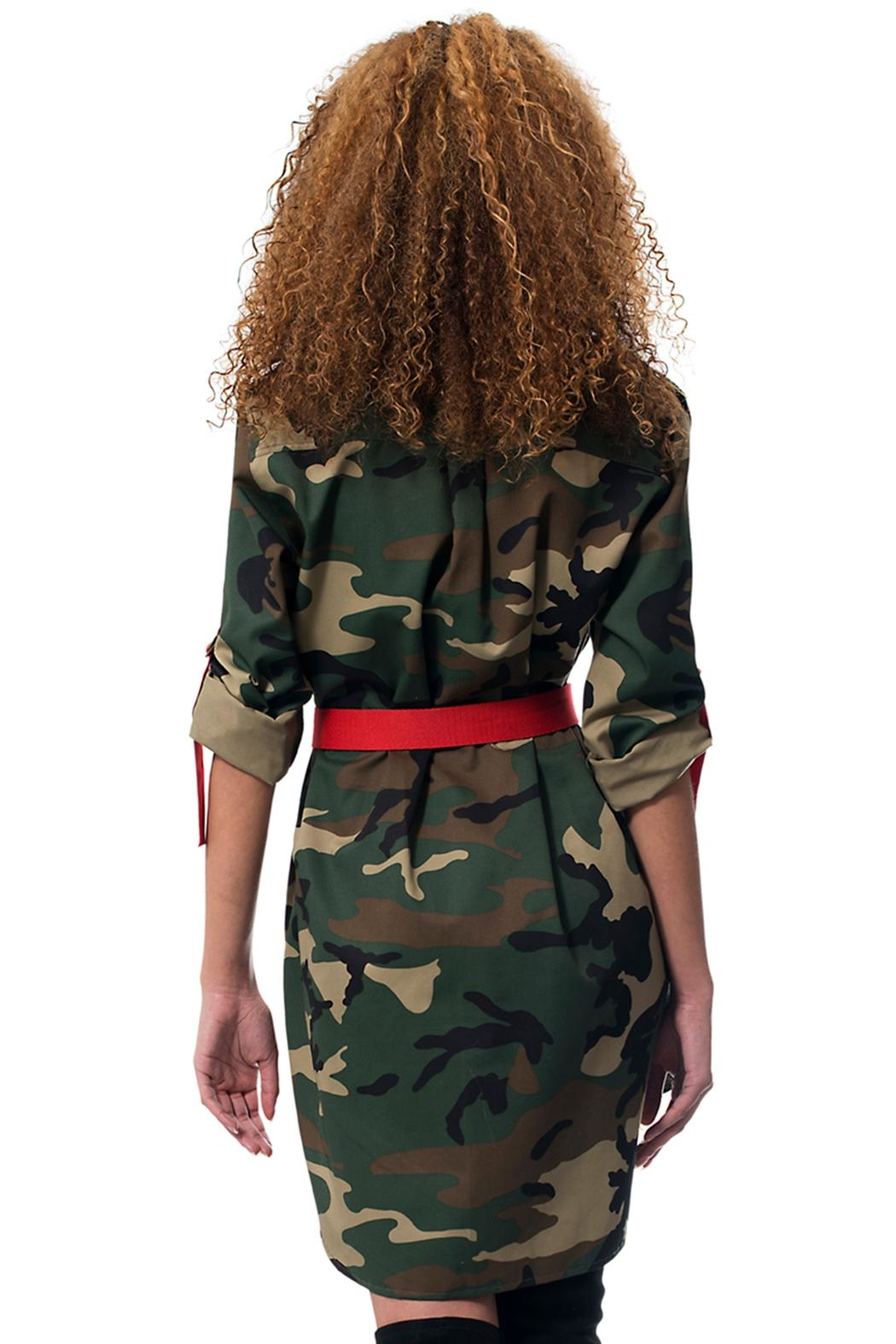 Gypsetters Dress Camo Straps - Side Cropped Image