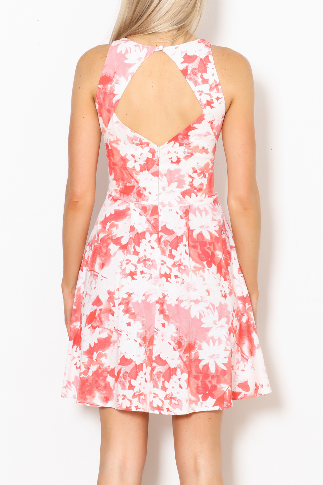 Dress Code Floral Tank Dress - Back Cropped Image