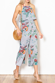 Dress Code Stripe Floral Jumpsuit - Product Mini Image