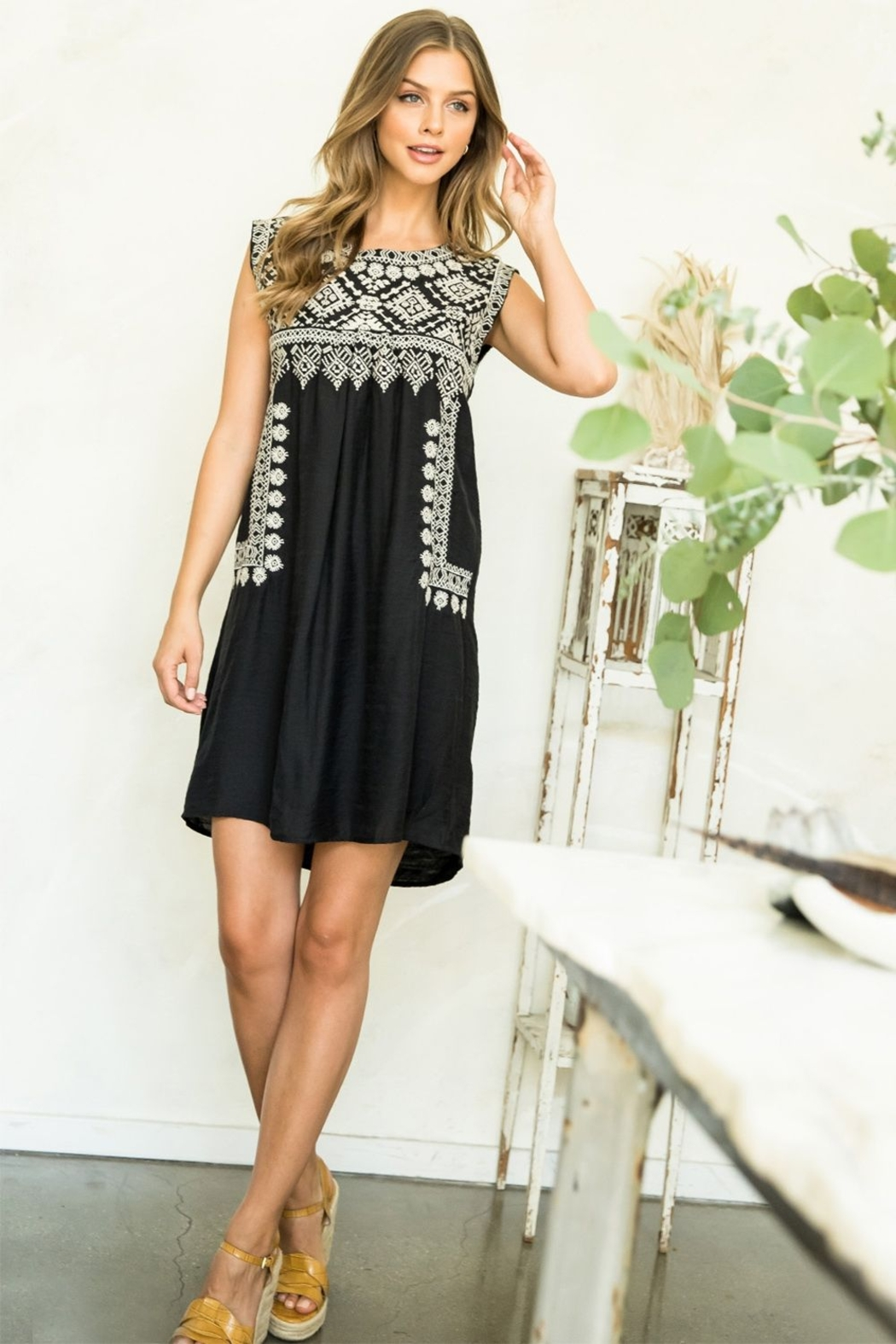 Thml EMBROIDERED DRESS - Front Cropped Image
