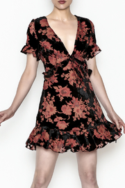 dress forum Floral Burnout Dress - Product Mini Image