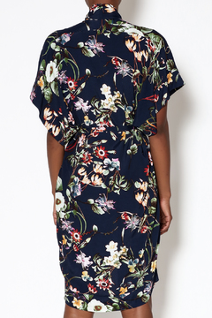 dress forum Navy Floral Kimono Dress - Alternate List Image