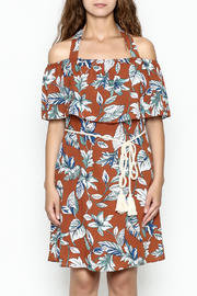 dress forum Halter Tropical Dress - Front cropped