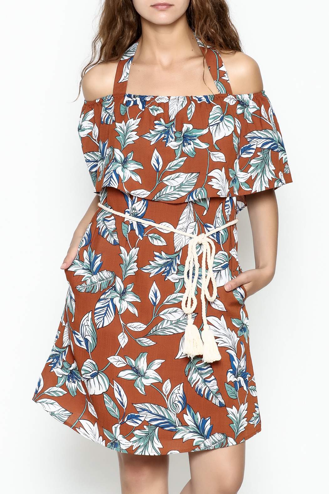 dress forum Halter Tropical Dress - Side Cropped Image