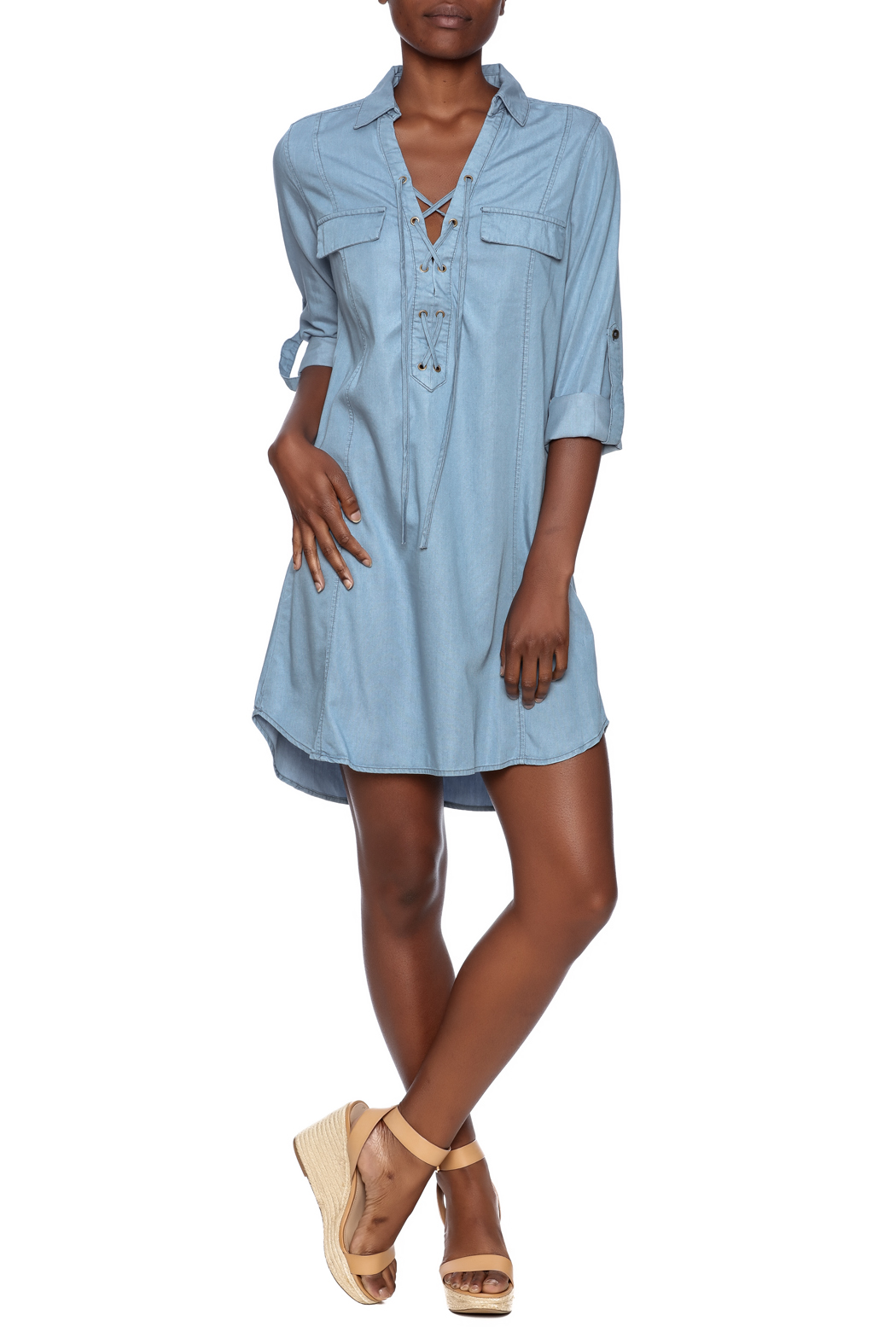 dress forum Lace Up Denim Dress from New York City by Dor L\'Dor ...