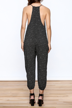 dress forum Black Printed Sleeveless Jumpsuit - Alternate List Image