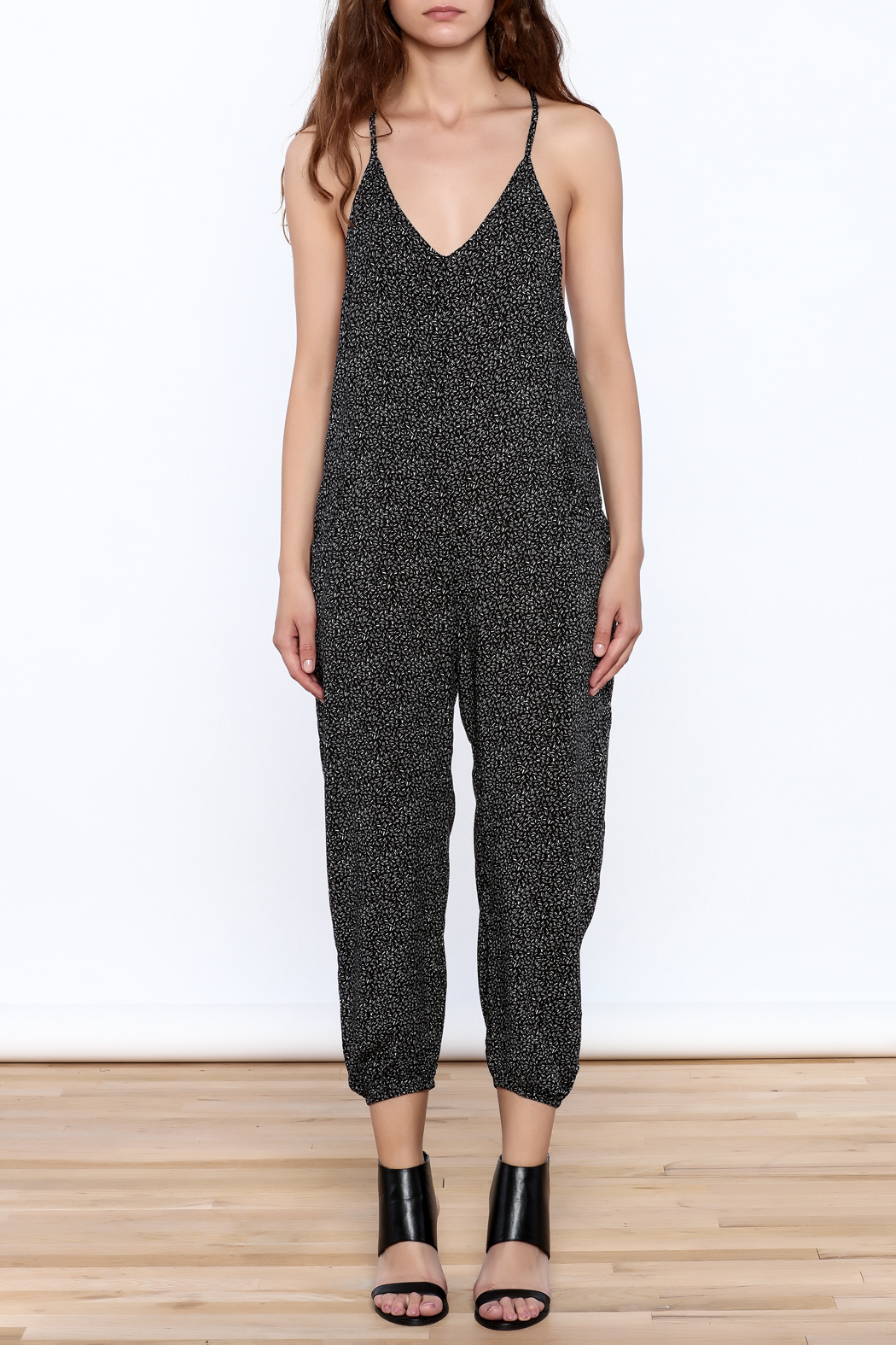 2f88776937 dress forum Black Printed Sleeveless Jumpsuit from New York by Dor L ...