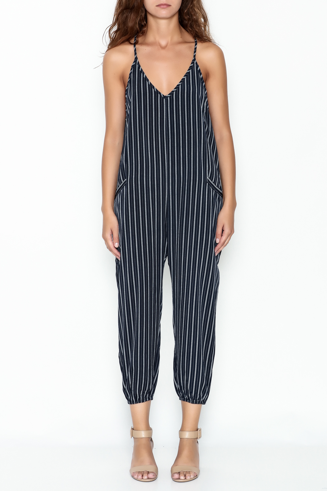 Dress Forum Navy Striped Jumpsuit From New York By Dor Ldor