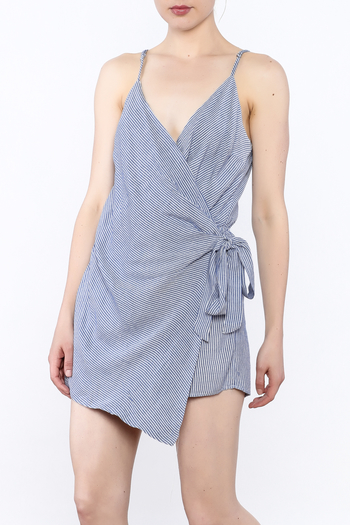 dress forum Stripe Wrap Romper - Main Image