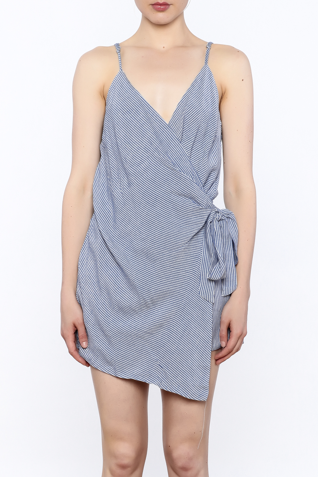 dress forum Stripe Wrap Romper - Front Full Image